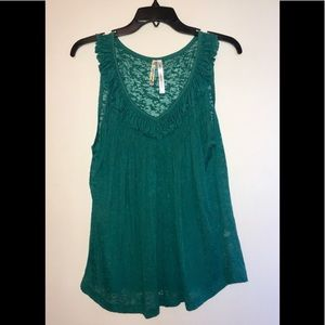 [o'neill] Green burnout style tank top (XL)